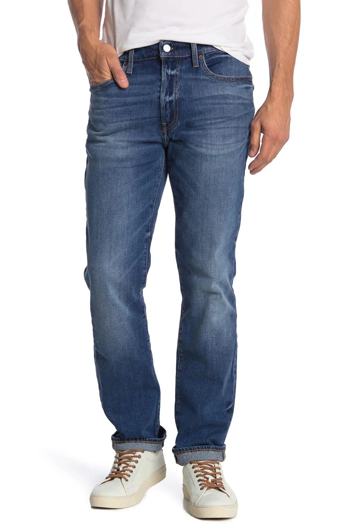 lucky brand 121 slim straight cut jeans 30 34 inseam nordstrom rack