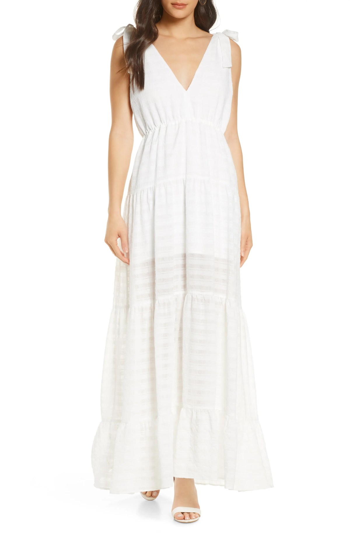 FINDERS KEEPERS Lucietti Maxi Dress, Main, color, IVORY