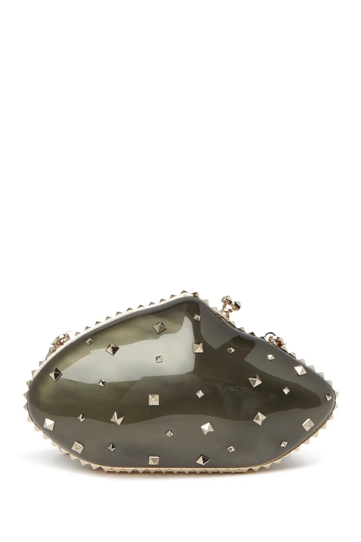 valentino organic shaped hard shell studded clutch nordstrom rack