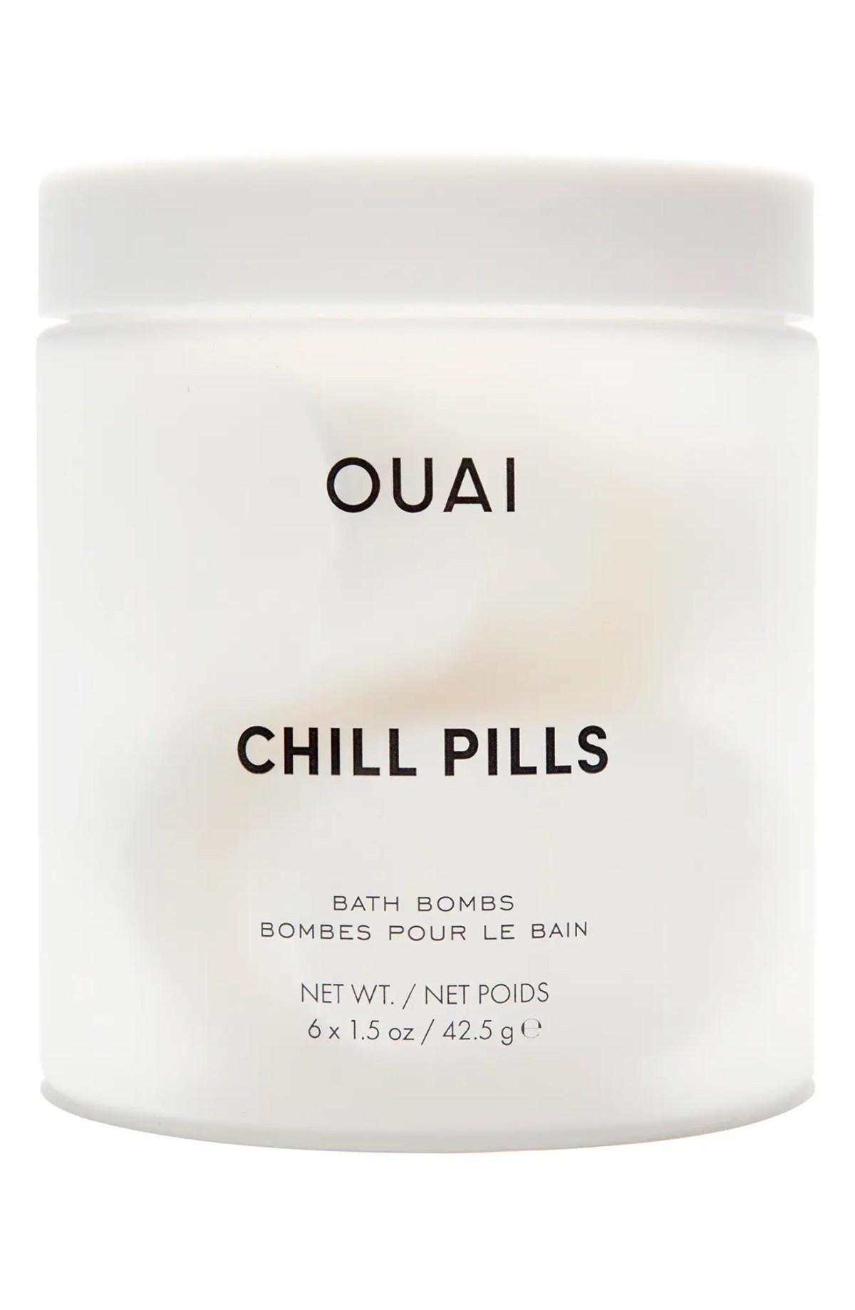OUAI Chill Pills Bath Bombs, Main, color, NO COLOR