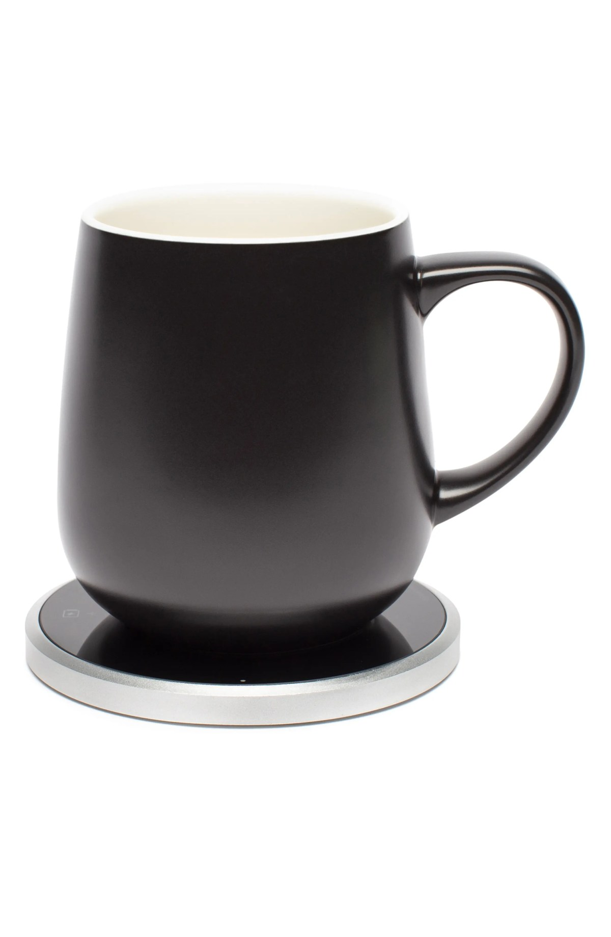 OHOM Kopi Mug & Warmer Set, Main, color, BLACK