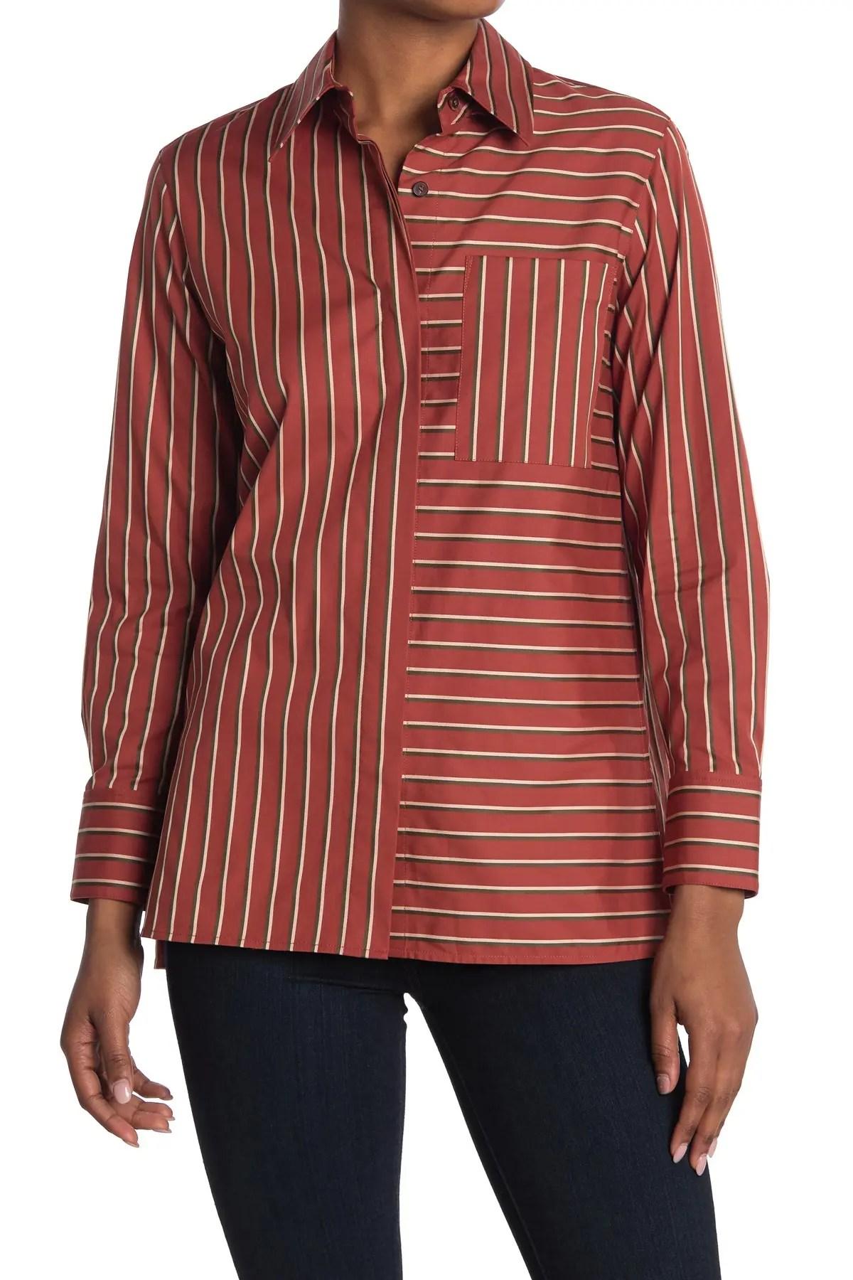greyson striped tunic blouse