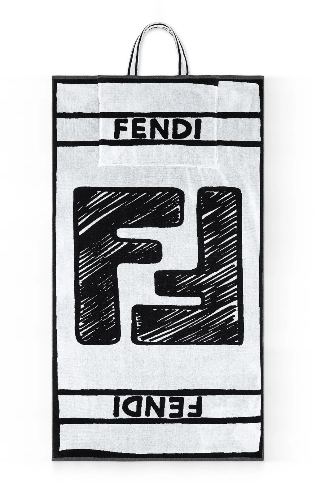 FENDI x Joshua Vides Convertible Terry Towel Tote, Alternate, color, WHITE