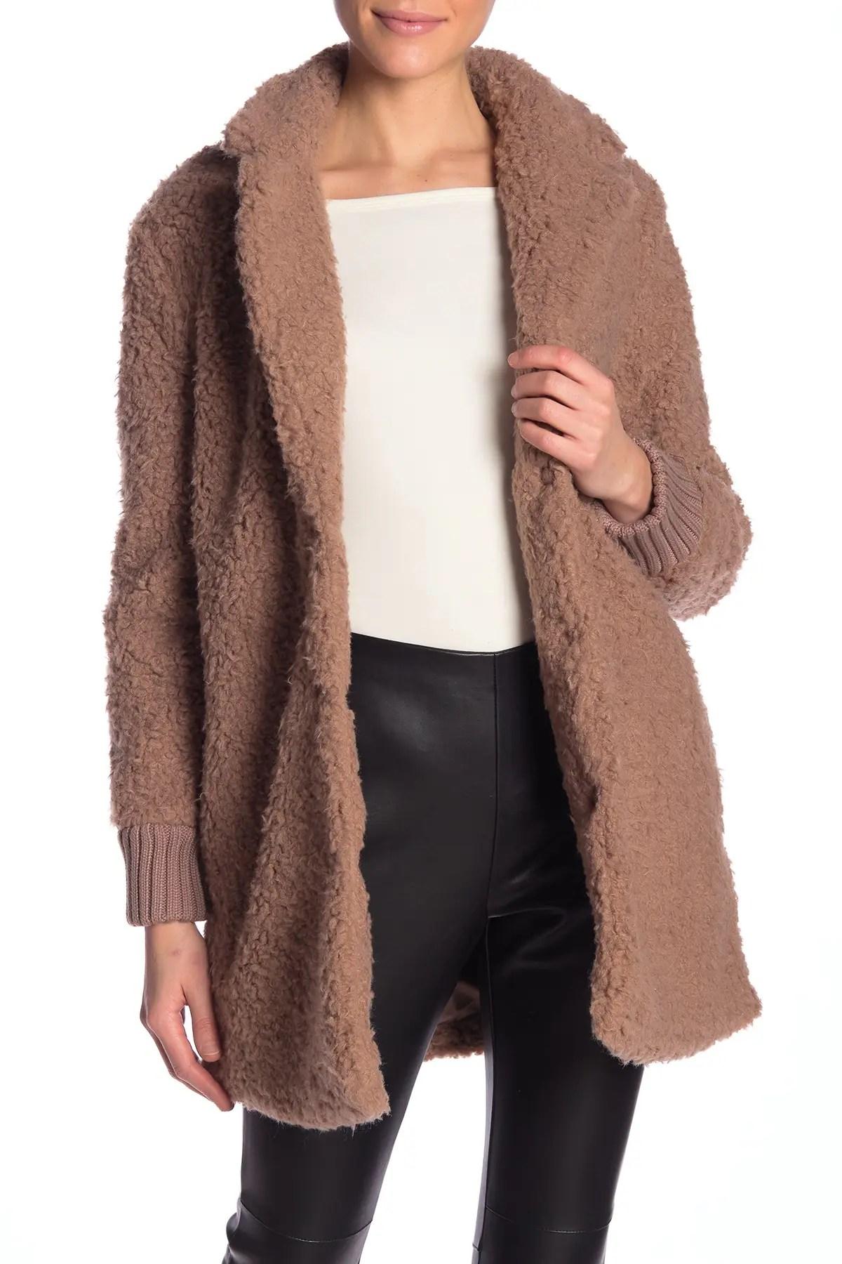 antebell faux fur teddy coat