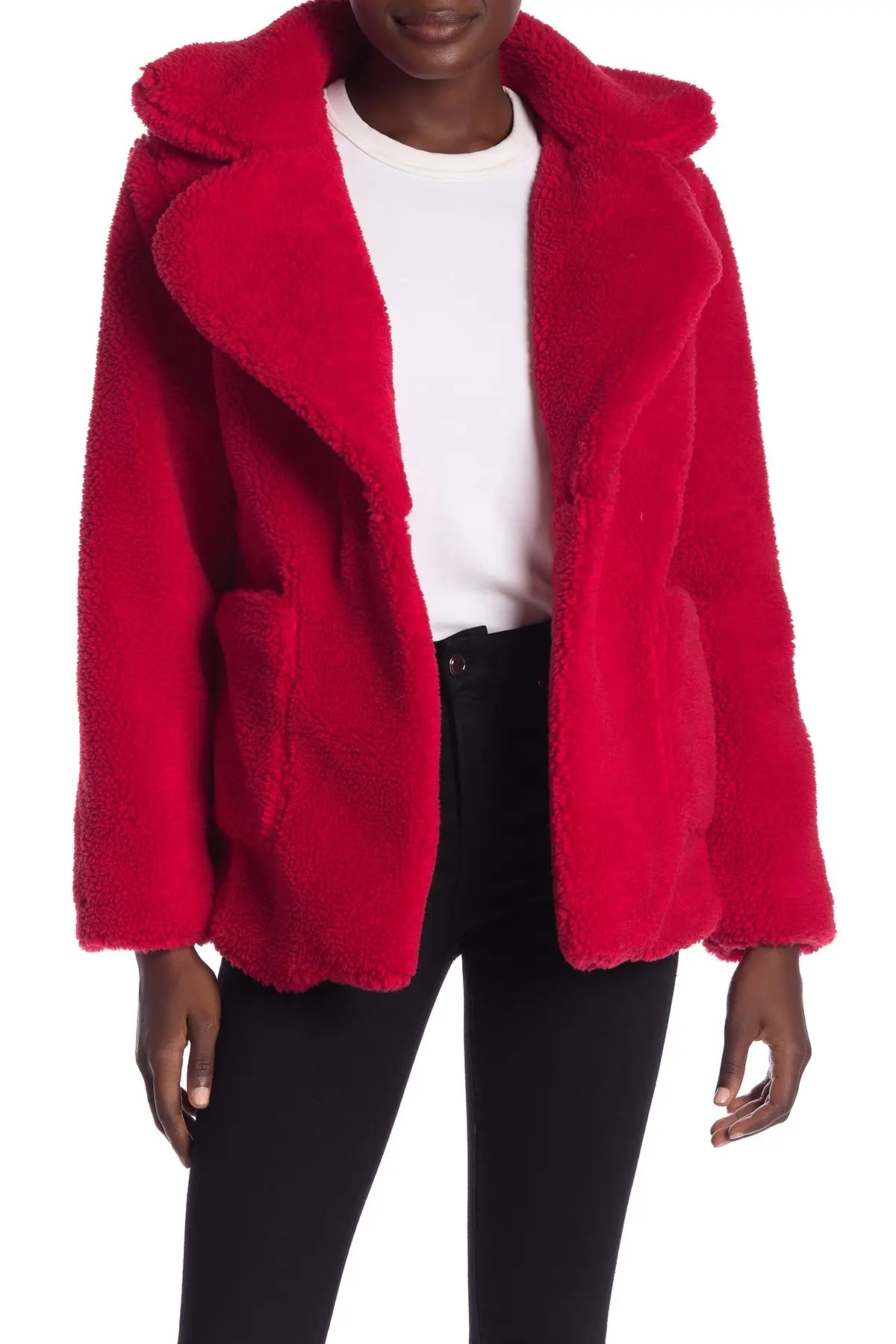 sebby teddy faux shearling jacket nordstrom rack