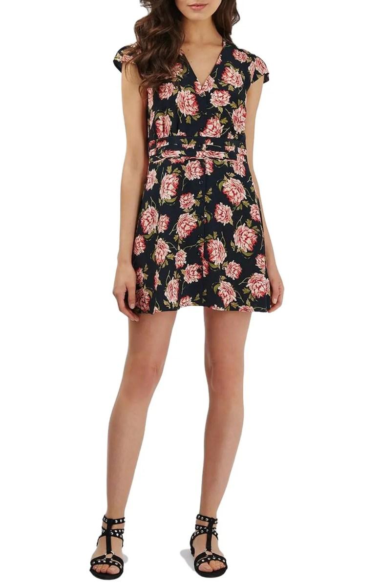 Topshop 'Romantic Bloom' Tea Dress | Nordstrom