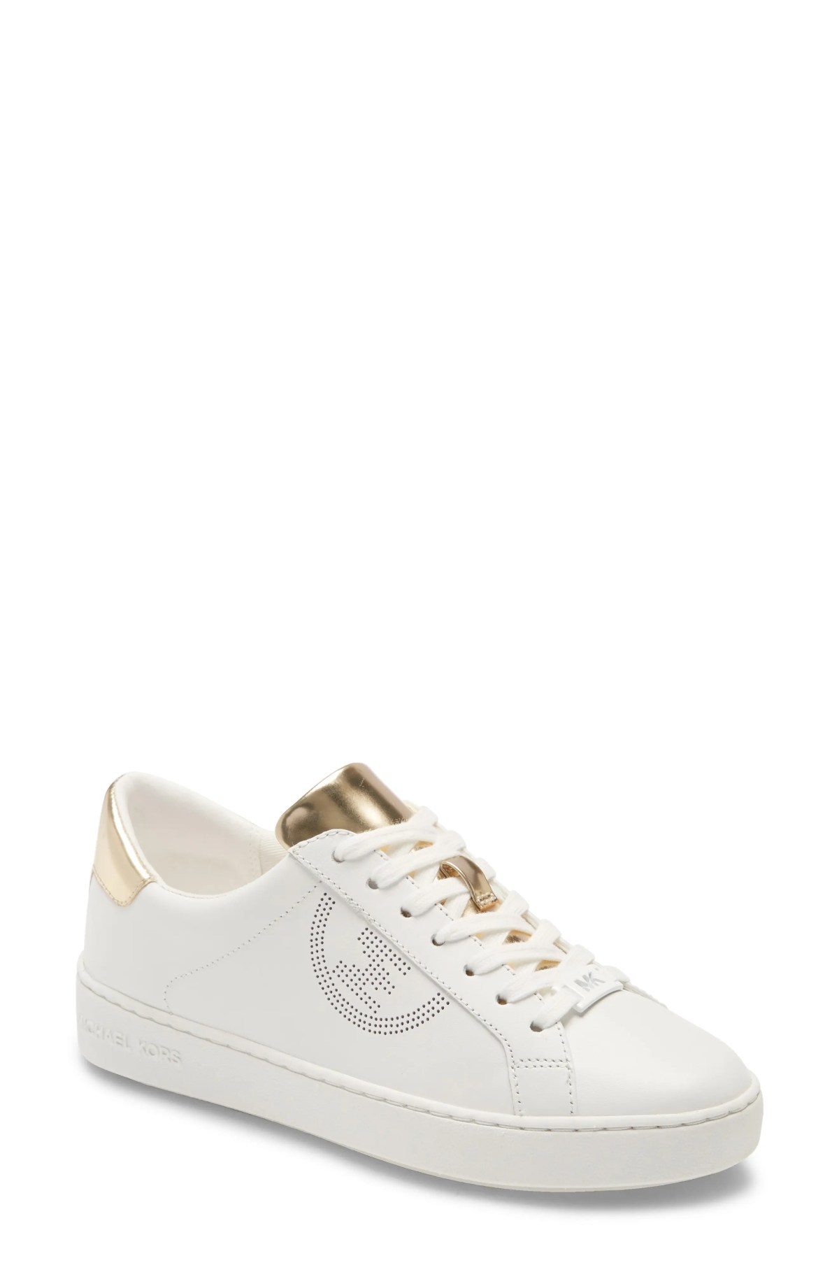 MICHAEL MICHAEL KORS 'Keaton' Sneaker, Main, color, WHITE/ GOLD LEATHER