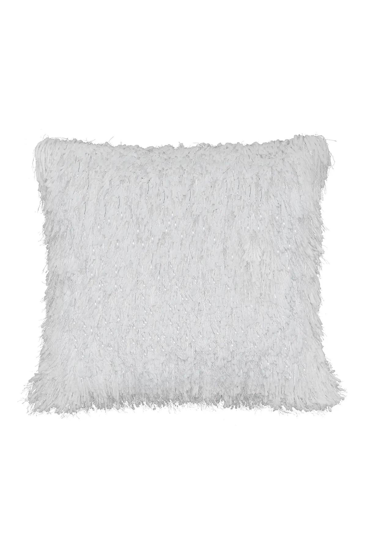 tiffany shag pillow white