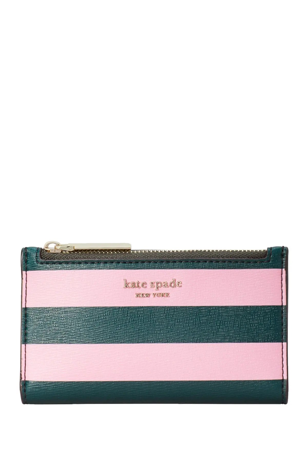 kate spade new york sylvia small striped slim bifold wallet nordstrom rack