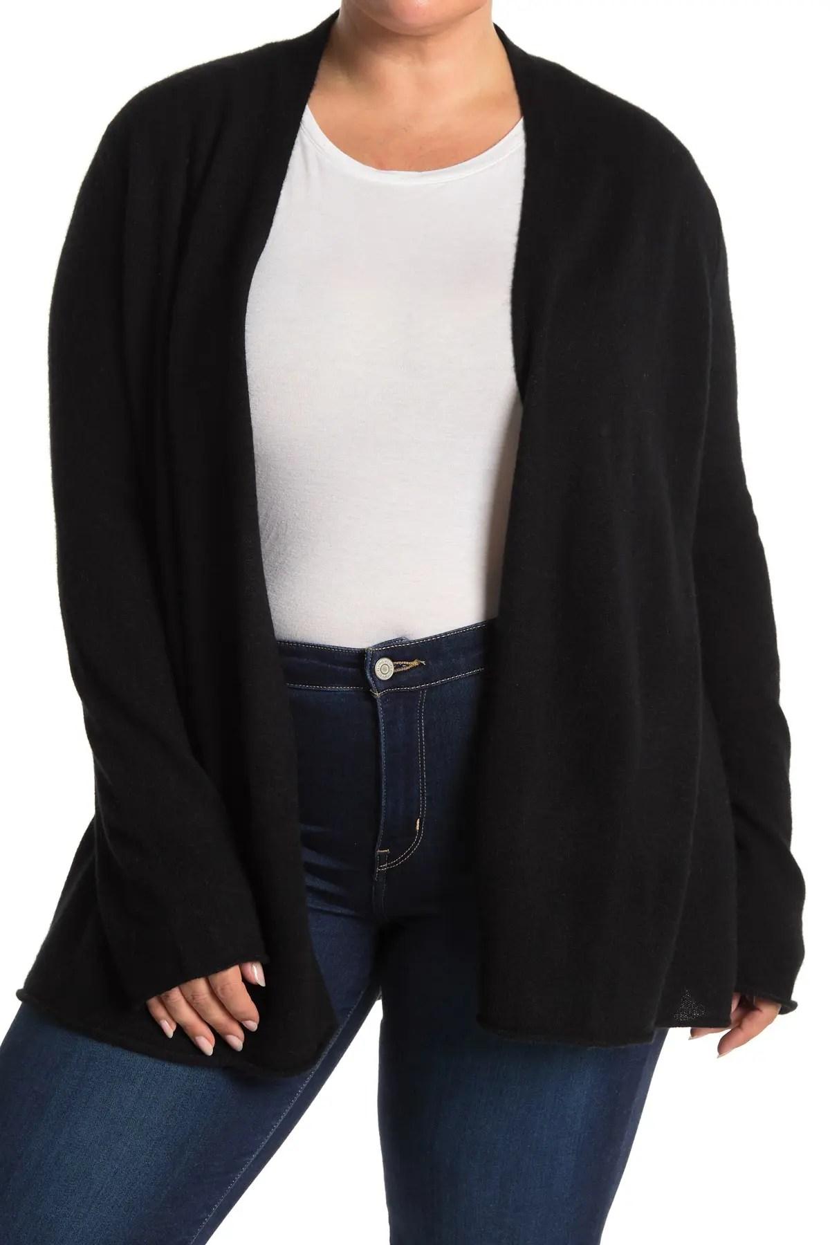 griffen cashmere long sleeve open