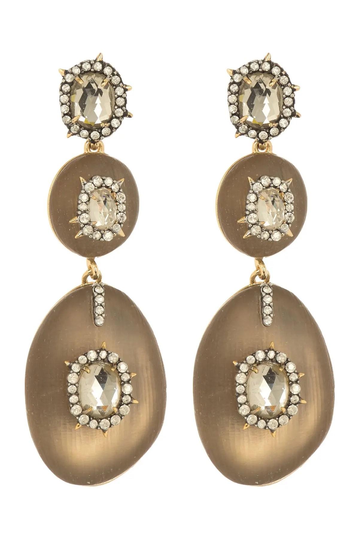 alexis bittar 10k gold triple lucite crystal encrusted drop earrings nordstrom rack