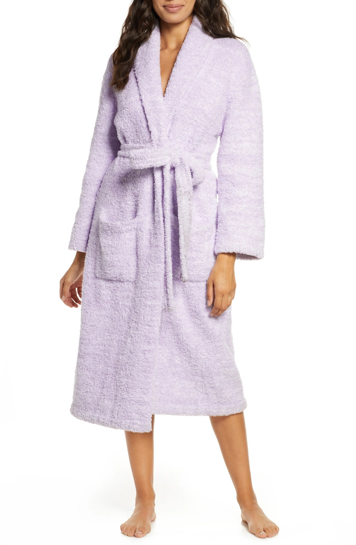 BAREFOOT DREAMS<SUP>®</SUP> CozyChic<sup>®</sup> Robe, Main, color, HE LAVENDER/WHITE