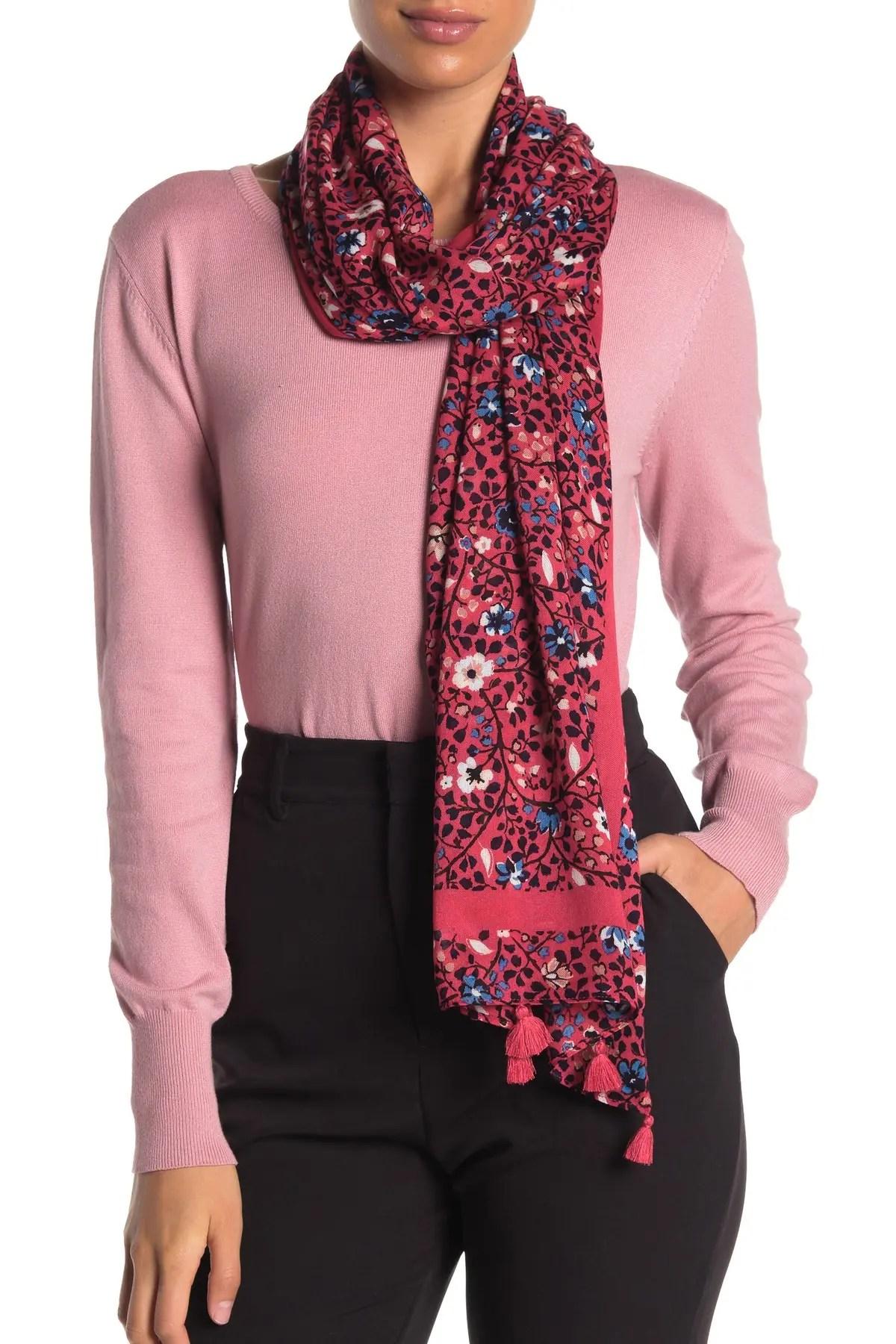 ditsy vine oblong scarf