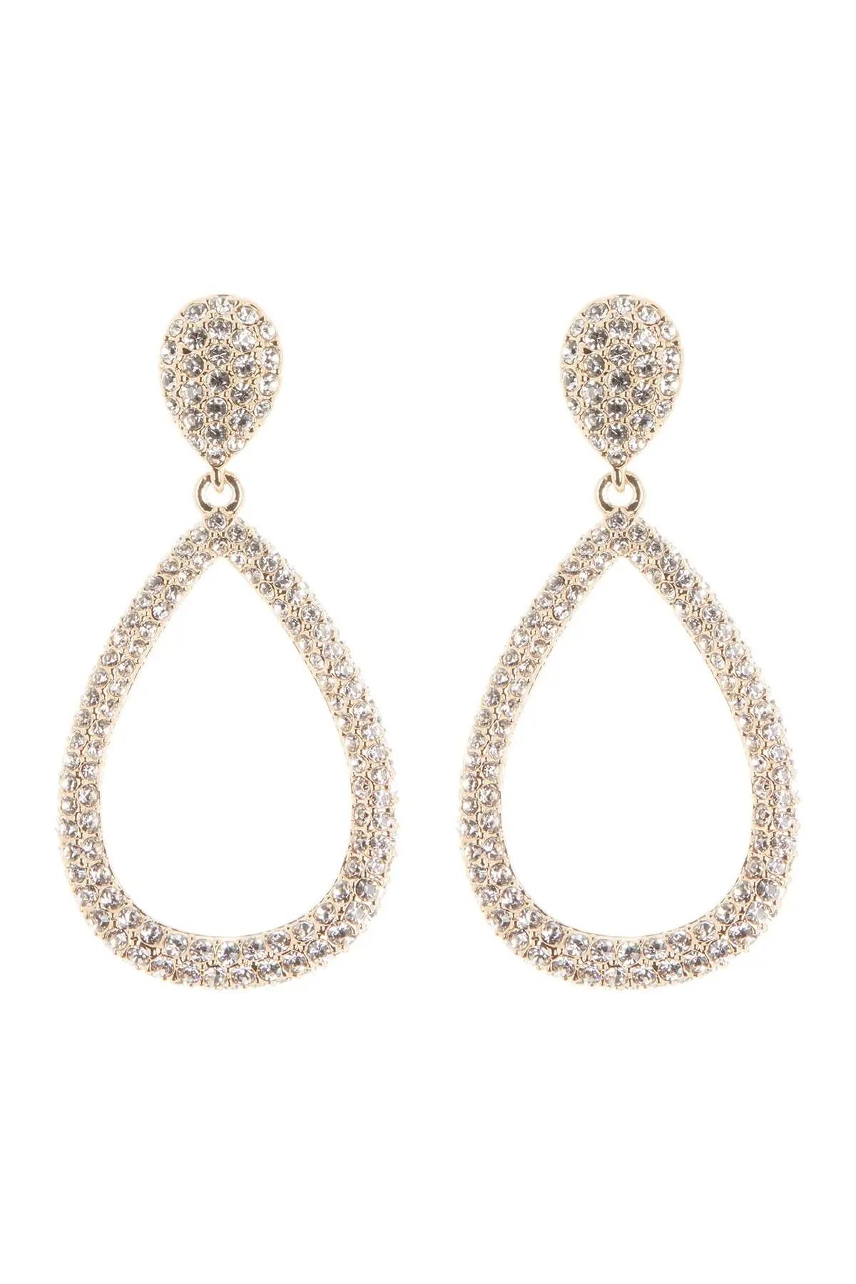 nadri crystal pave open teardrop earrings nordstrom rack
