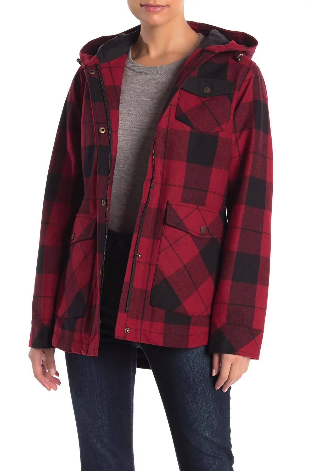 alta plaid wool blend coat
