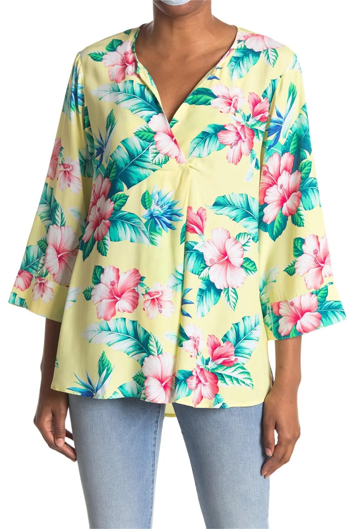 tommy bahama floristic approach hawaiian print tunic top nordstrom rack