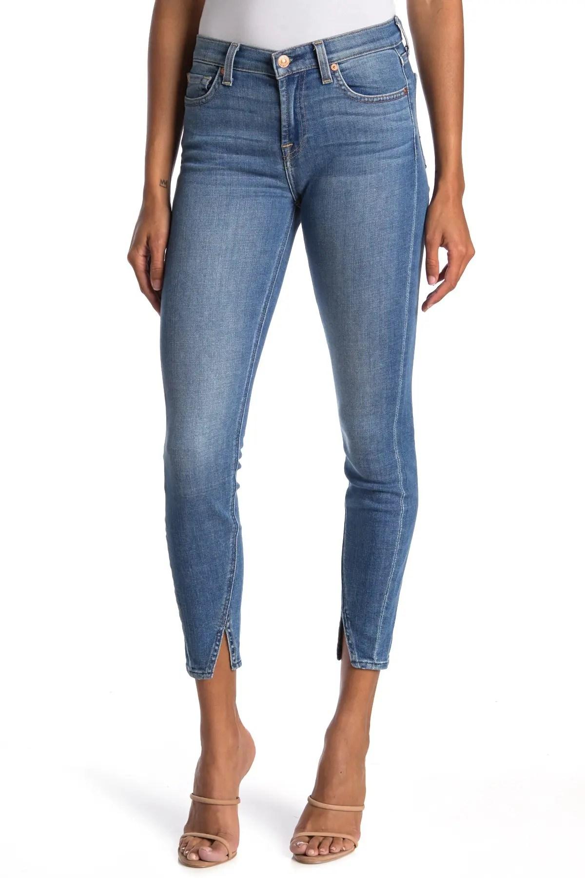 7 for all mankind gwenevere ankle split hem skinny jeans nordstrom rack
