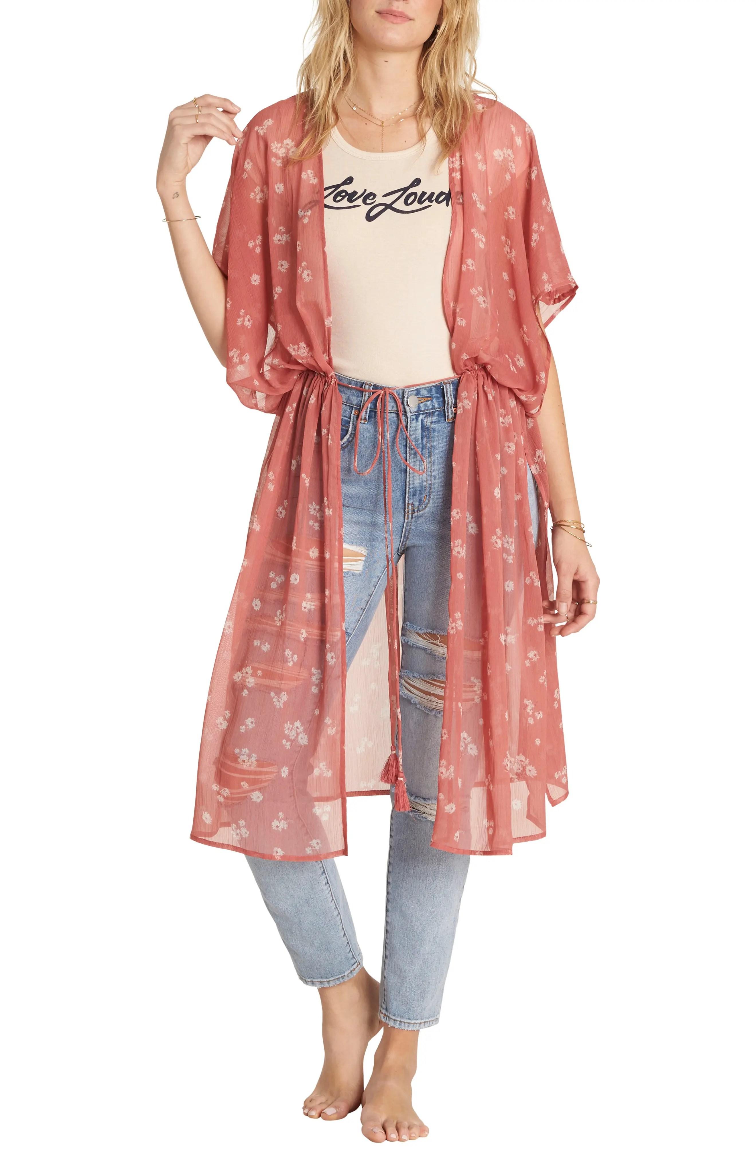 billabong bilabong calley s sea floral kimono nordstrom rack