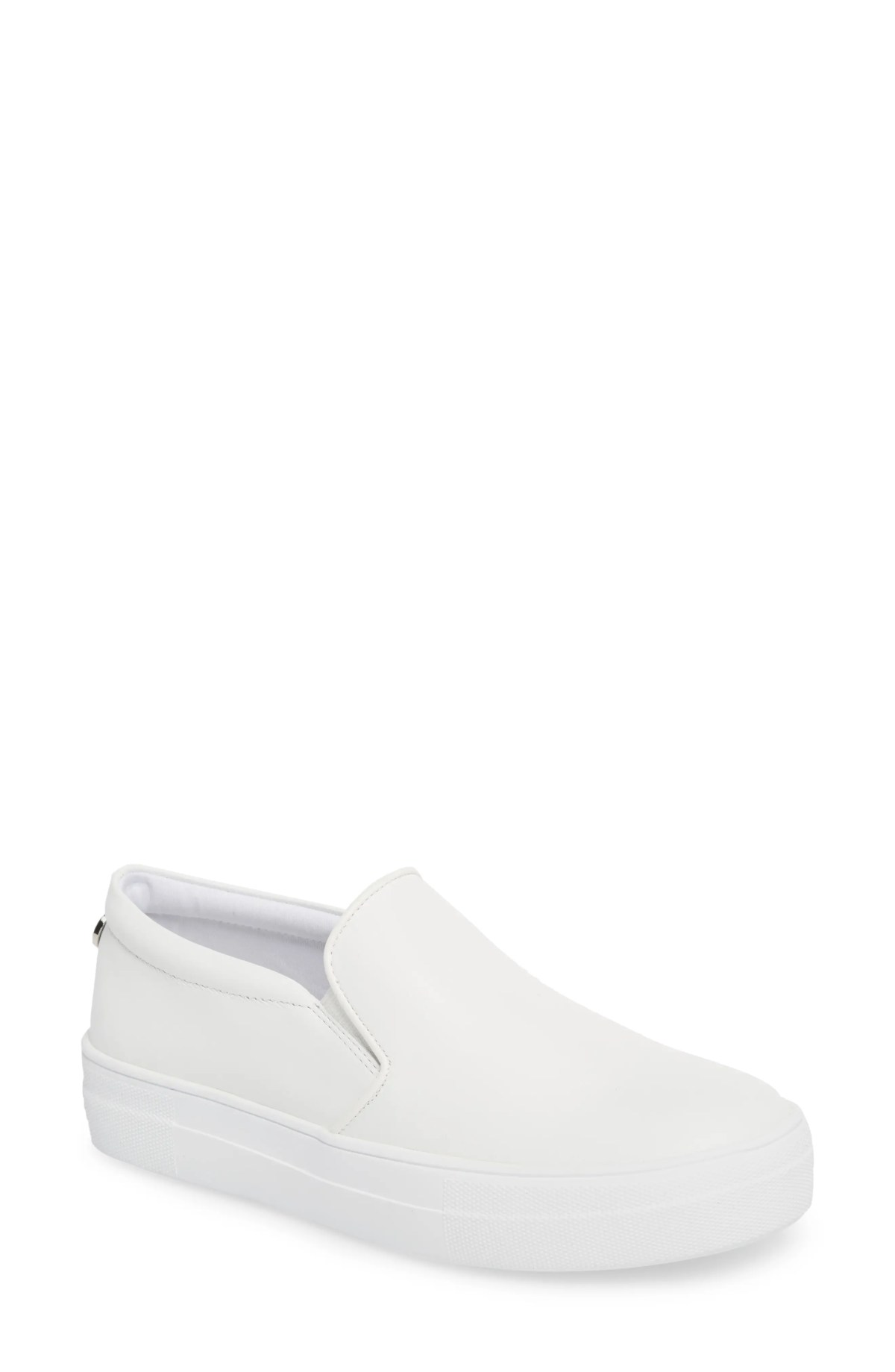 STEVE MADDEN Gills Platform Slip-On Sneaker, Main, color, WHITE LEATHER