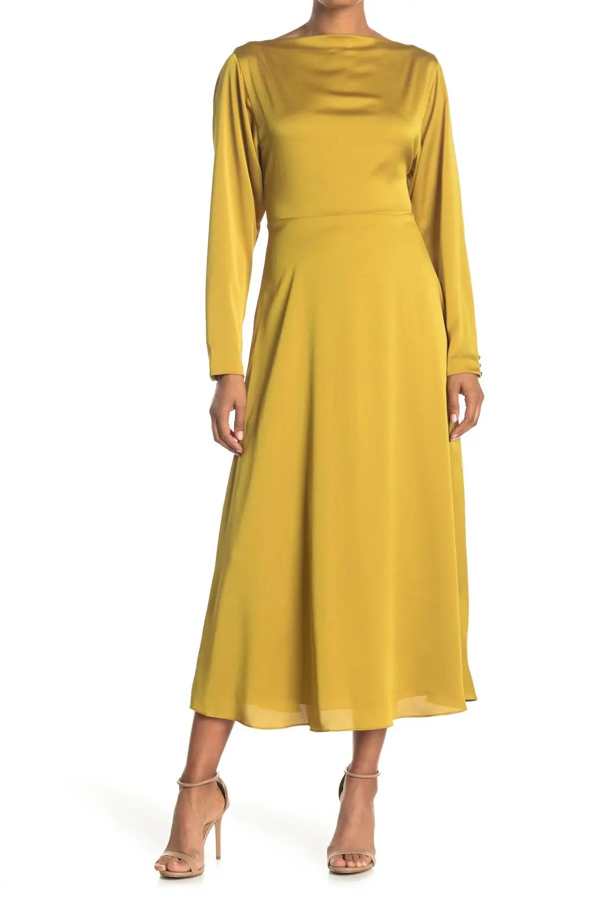 twist back midi dress