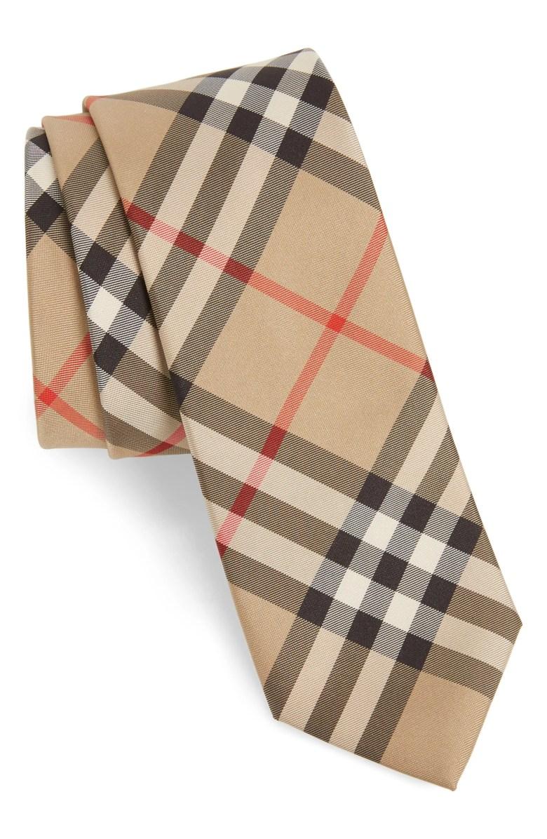 Burberry Manston Check Silk Tie Nordstrom