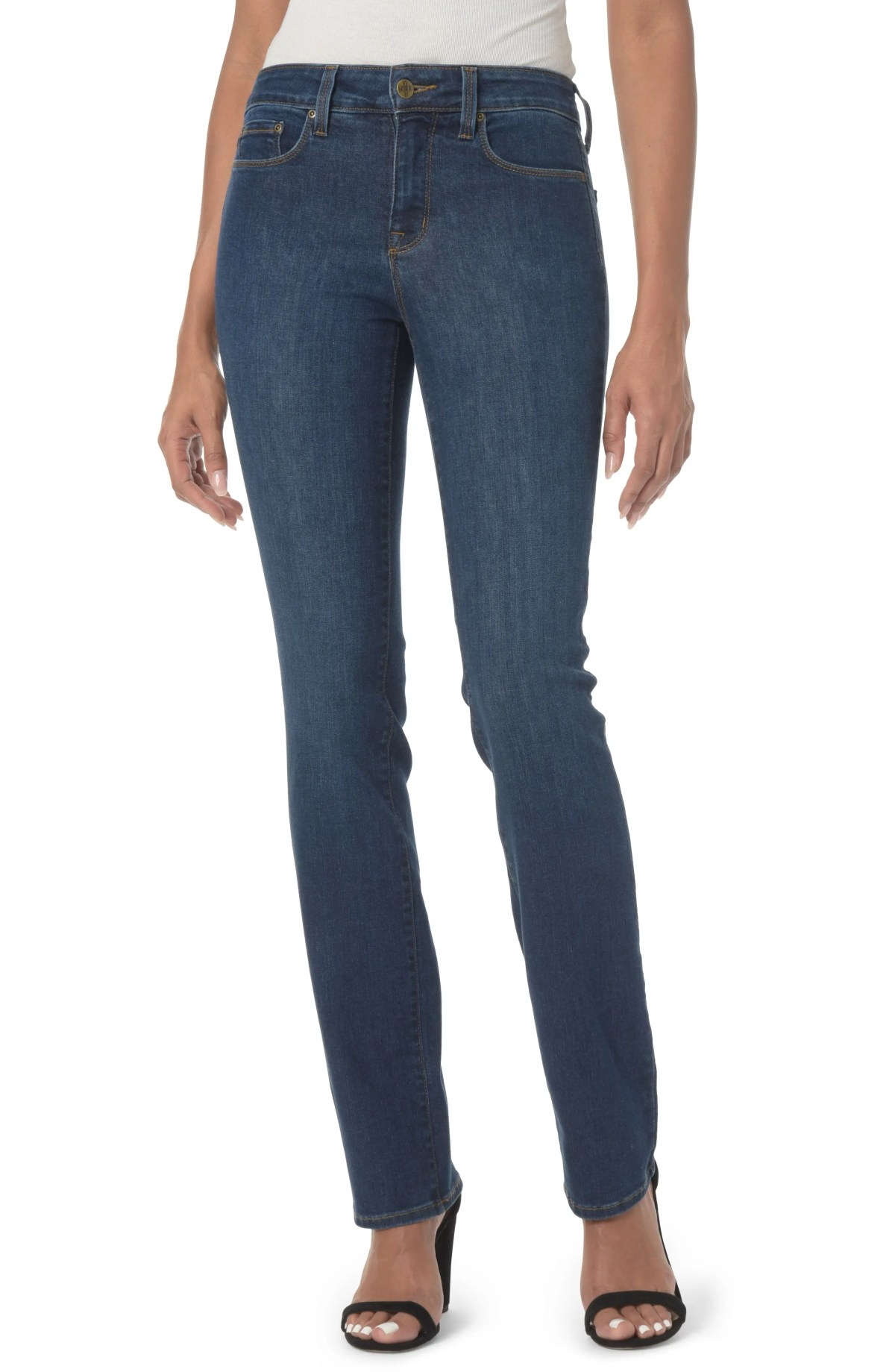 NYDJ Marilyn Stretch Straight Leg Jeans, Main, color, COOPER
