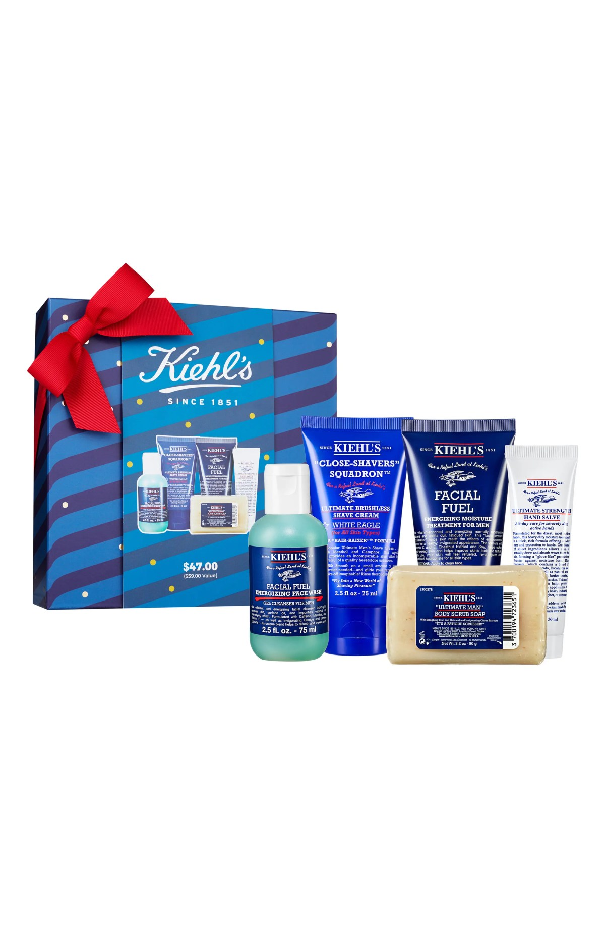 KIEHL'S SINCE 1851 Travel Size Men's Grab & Go Essentials Set, Main, color, NO COLOR