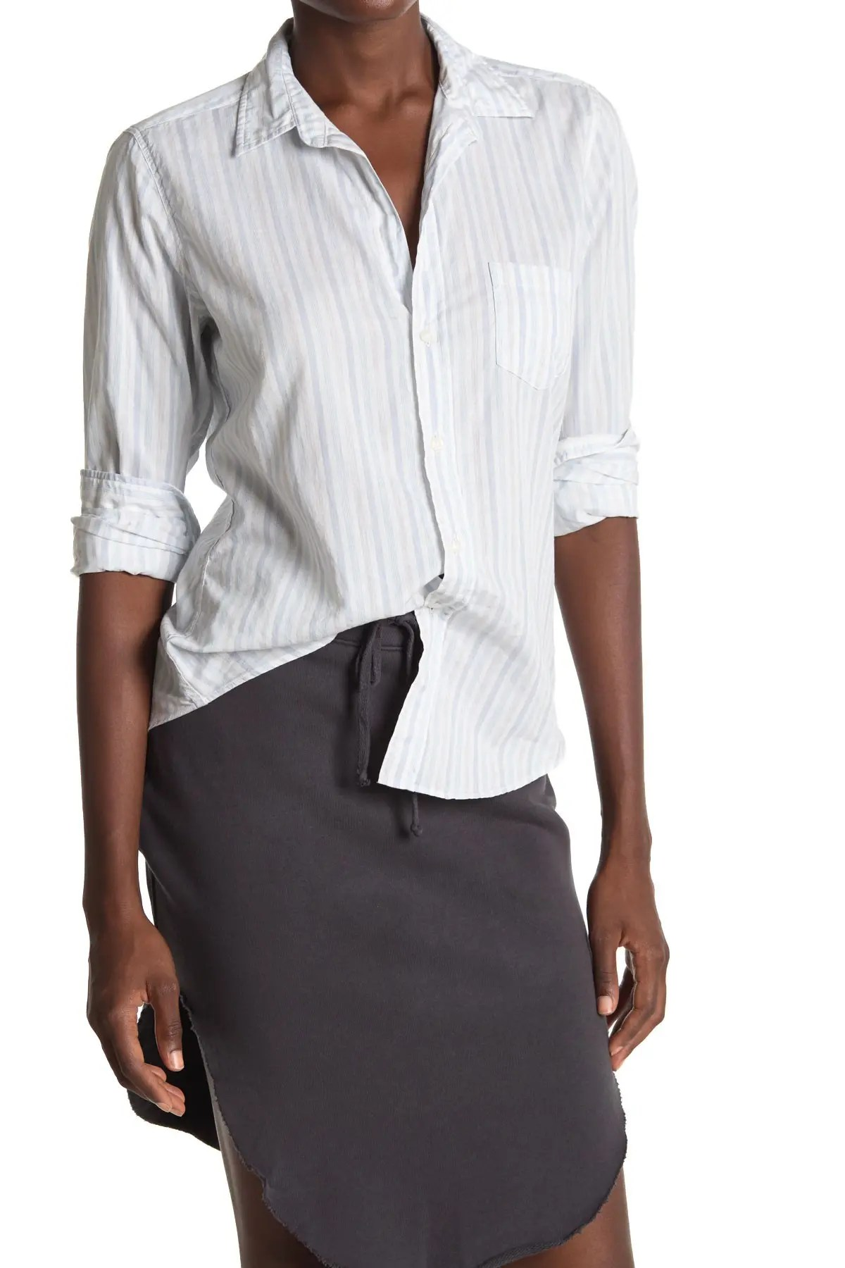 frank eileen barry striped woven collared shirt nordstrom rack
