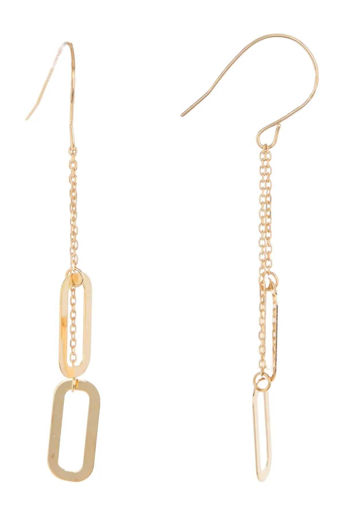 bony levy 14k yellow gold link drop earrings nordstrom rack