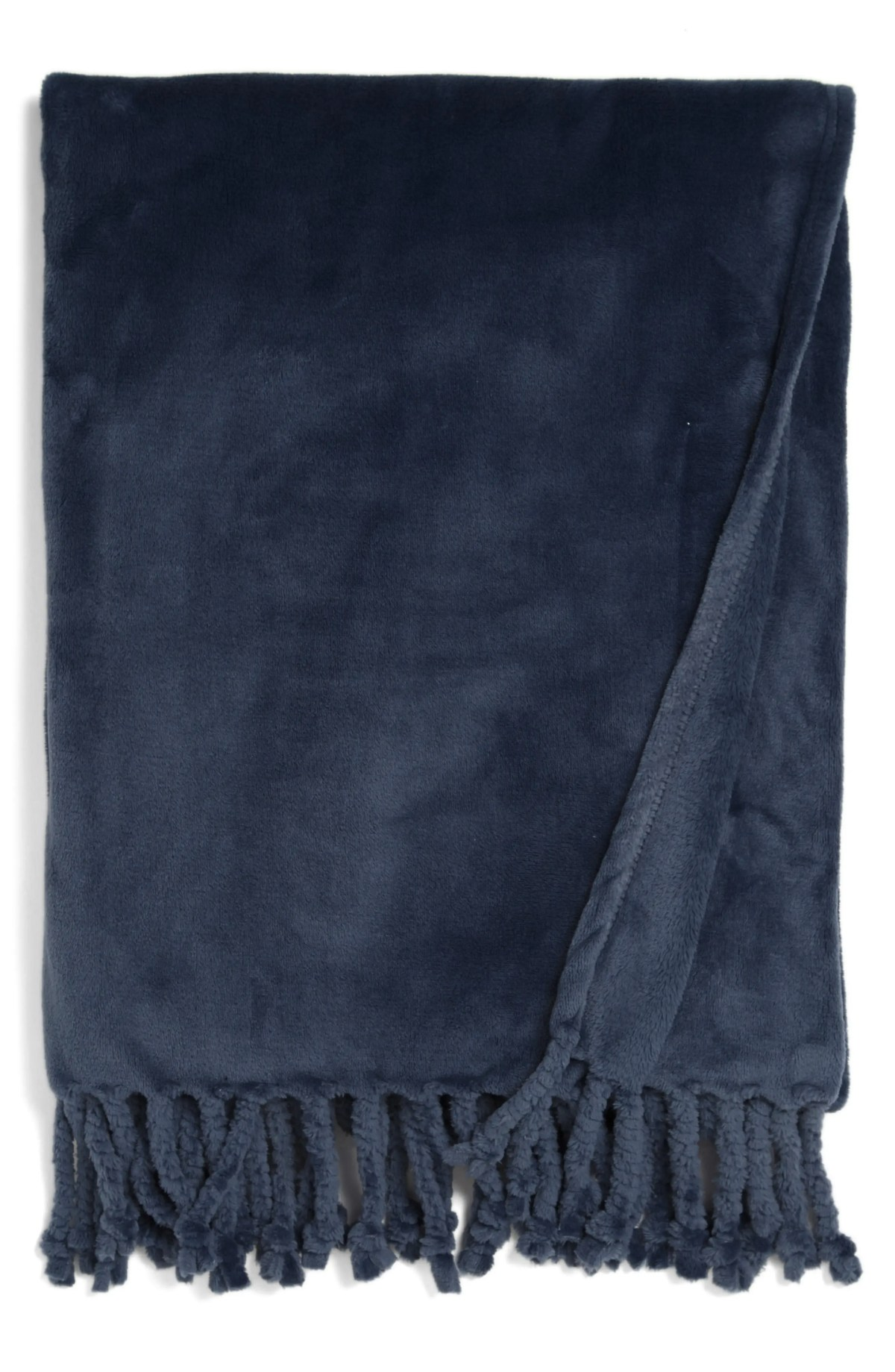 NORDSTROM AT HOME Kennebunk Bliss Plush Throw, Main, color, NAVY BLUE