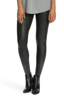 Faux Leather Leggings, Main, color, BLACK