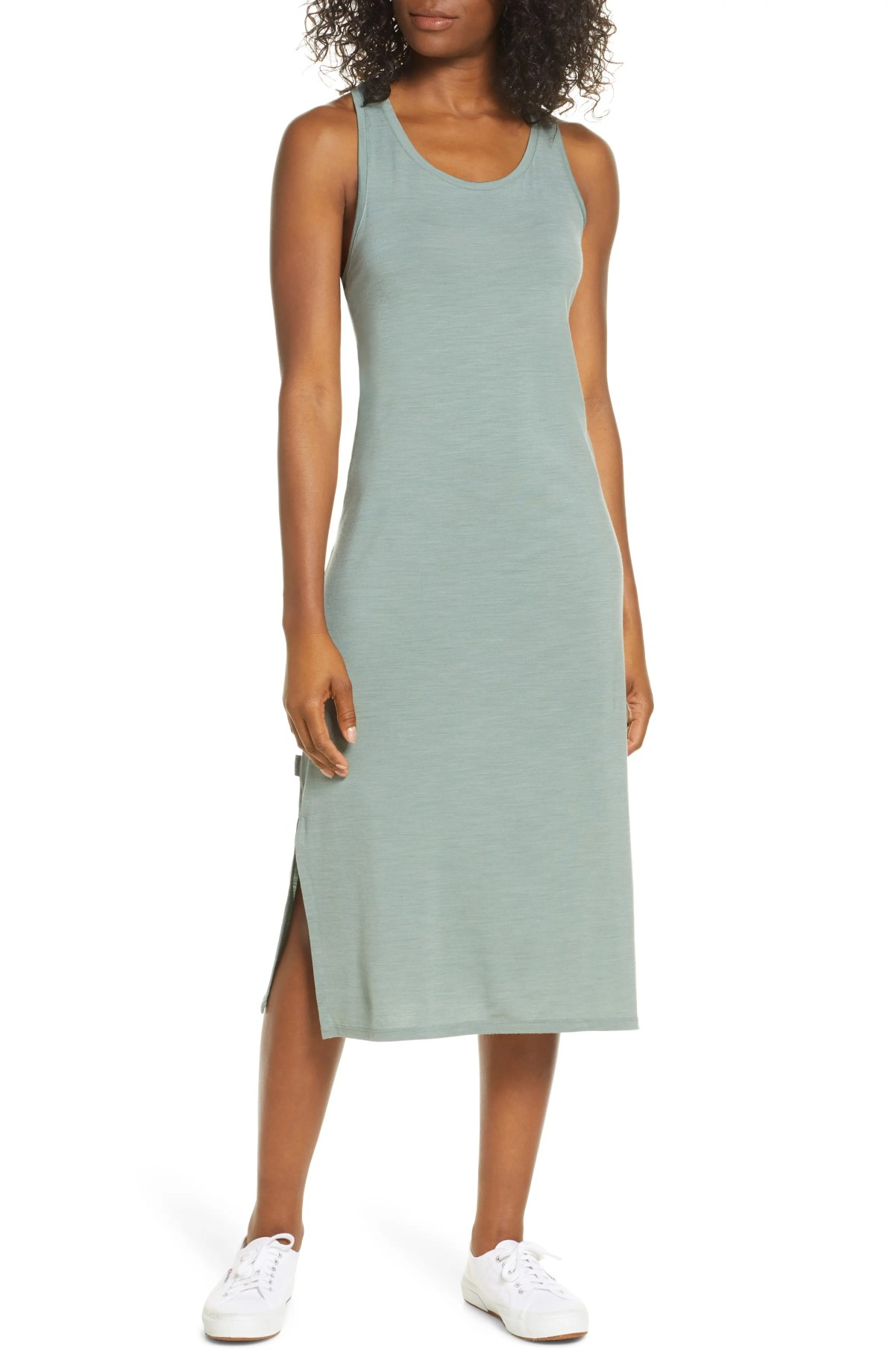 ICEBREAKER Yanni Cool-Lite<sup>™</sup> Midi Tank Dress, Main, color, SHALE