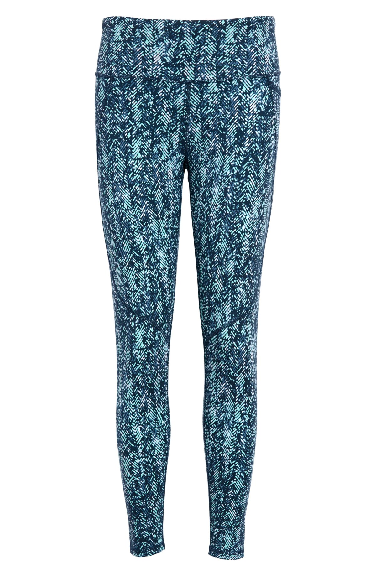 SWEATY BETTY Power Workout 7/8 Leggings, Main, color, BLUE HERRINGBONE