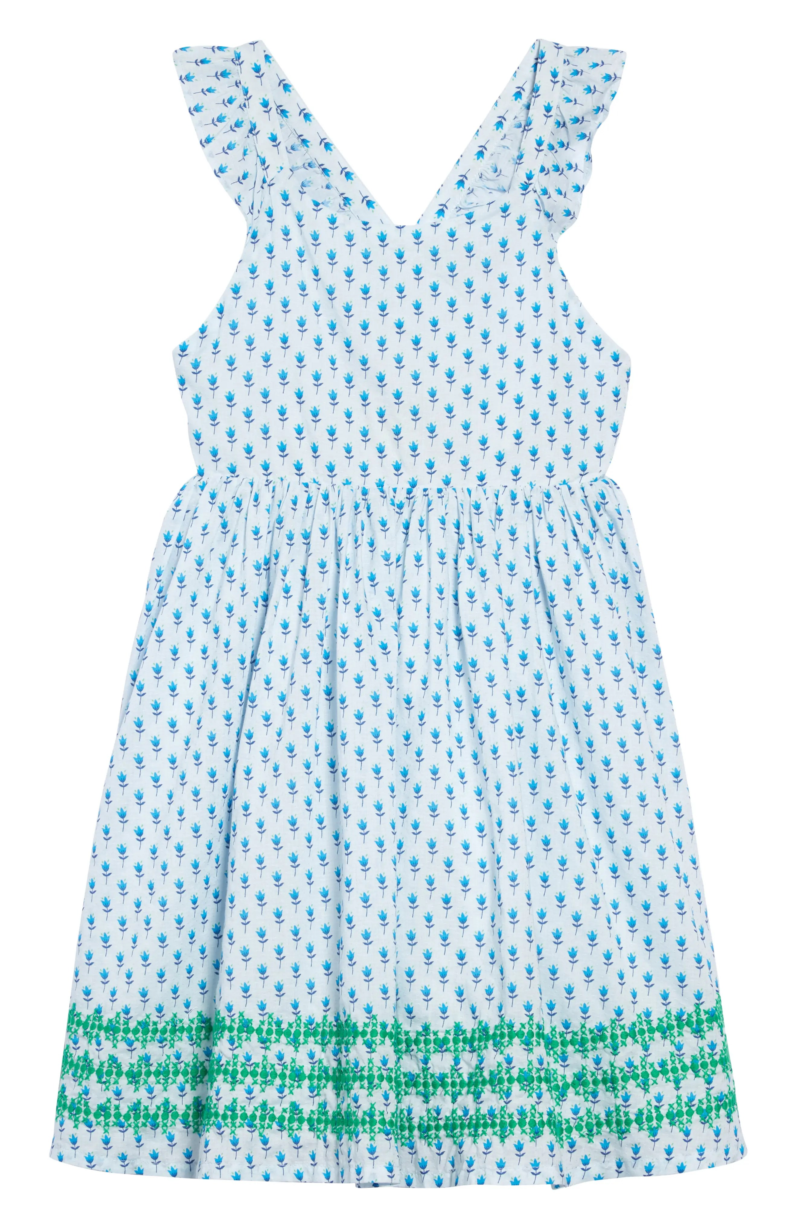 mini boden embroidered cross back