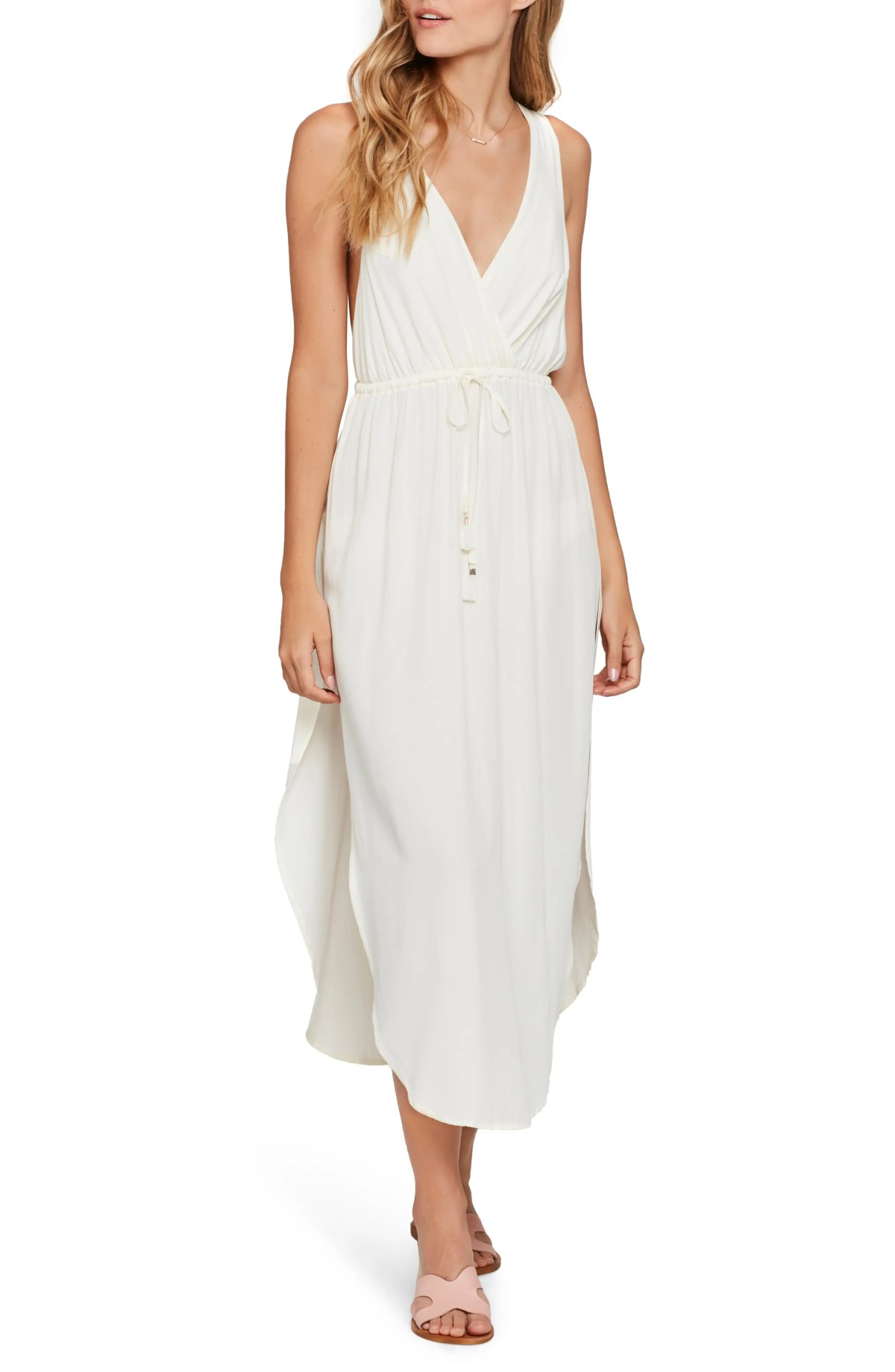 Kenzie Cover-Up Midi Dress, Main, color, CREAM