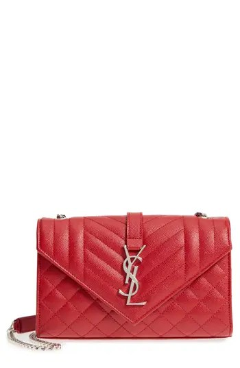 05c1305ab1e Saint Laurent Small Cassandre Leather Crossbody Bag – Red – NORDSTROM.com –  $1,990.00