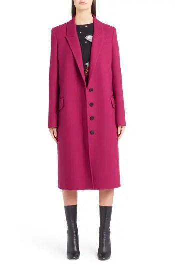 901272976 Women's Alexander Mcqueen Long Wool & Cashmere Coat, Size 12 US / 48 IT –  Coral – NORDSTROM.com – $3,375.00