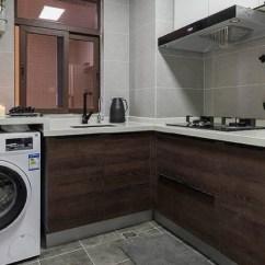 Kitchens For Less White Kitchen Bench 为什么外国洗衣机都放厨房 而我们却很少这样做 还好师傅告诉我 洗衣机 还