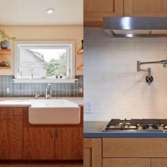 Kitchen Back Splashes Refinish Countertop 分享厨房打造7要素 老公对我都刮目相看 堆叠 厨房 瓷砖 新浪网