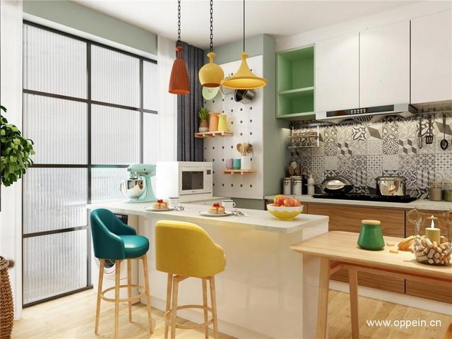 kitchen islan ashley furniture sets 厨房吧台及厨房岛台设计效果图 每一款都值得收藏 厨房 吧台 收纳 新浪网