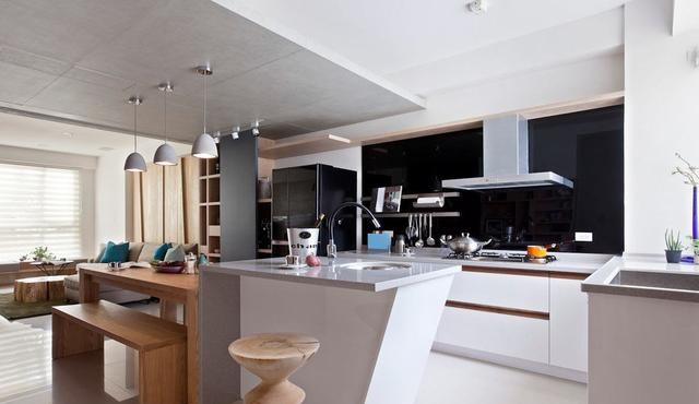 islands for the kitchen residential hood fire suppression system 厨房中岛台是美观又实用的空间 来看效果图 让你的厨房不一样 中岛