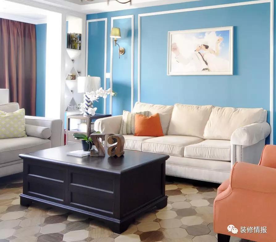 navy blue kitchen rugs cheap motels with kitchens 个性简约美式 就像徜徉在蓝色海洋 女主人 吊顶 地毯 新浪网