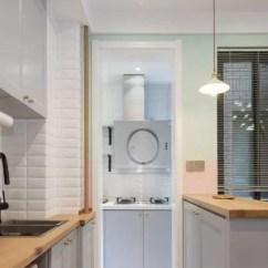 Small Kitchen Sinks Country Shelves For 小厨房规划的好 4 就够用了 厨房 水槽 收纳 新浪网