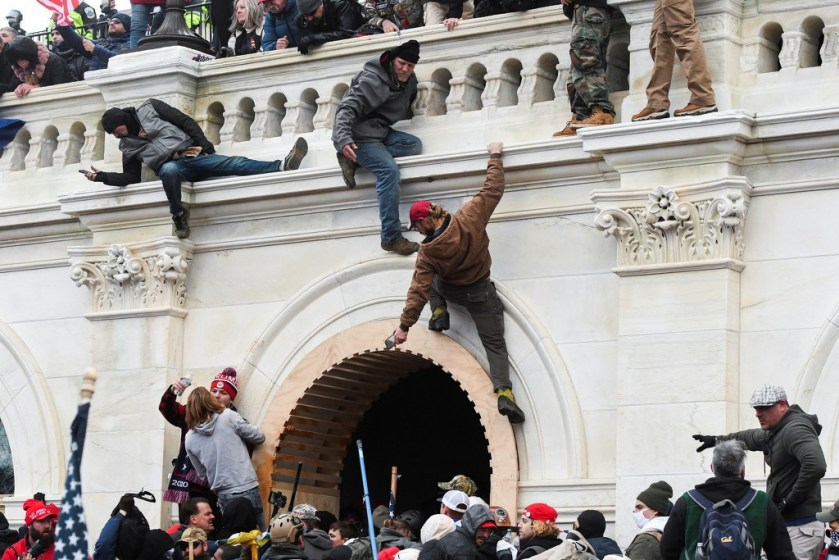 Demonstrators shocked Congress during the riots Source: Surging Video