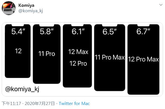 iPhone 12系列智能機劉海屏尺寸與iPhone 11系列對比_新浪科技_新浪網