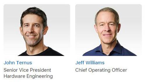 蘋果硬件工程高級副總裁與COO