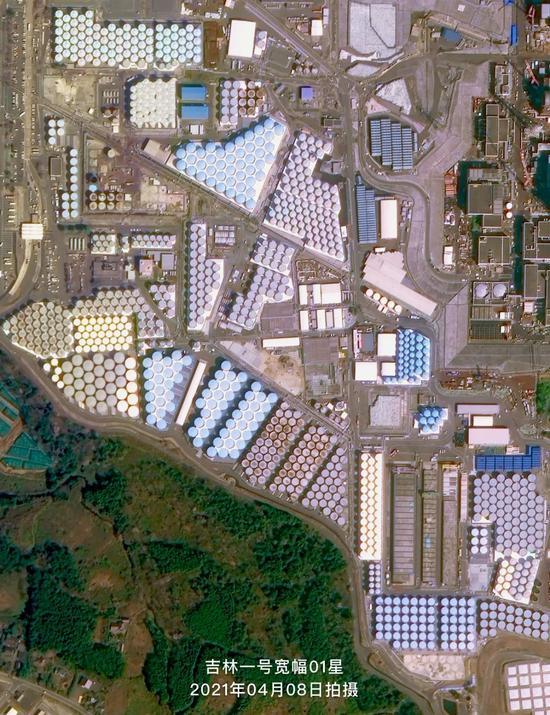 图片:日本福岛第一核电站的核废水储罐