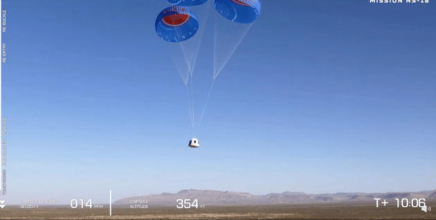 Blue origin's second manned space flight broke the record of mankind's oldest space flight(1)