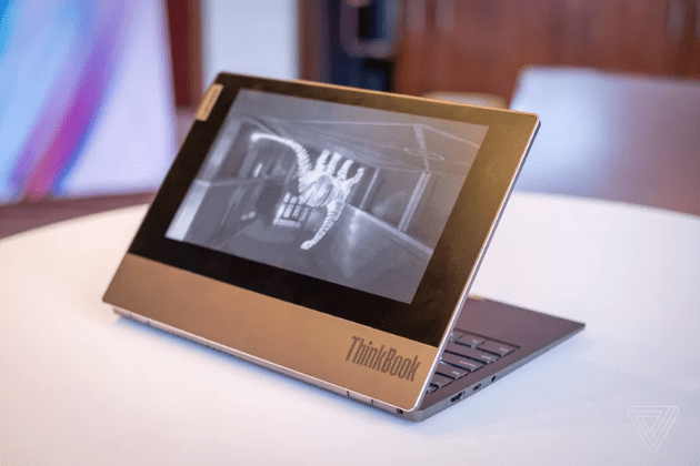 ThinkBook Plus is equipped with an ink screen (picture from The Verge)