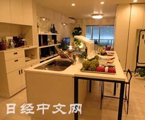 moveable kitchen island knife 日本开发可移动户型80 面积可据需要改变布局 移动户型 移动厨房 移动住房 可轻松将厨房移动成中岛式 对面型等